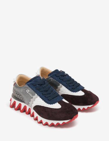 Louis Junior Spikes Orlato Dark Blue Suede Trainers