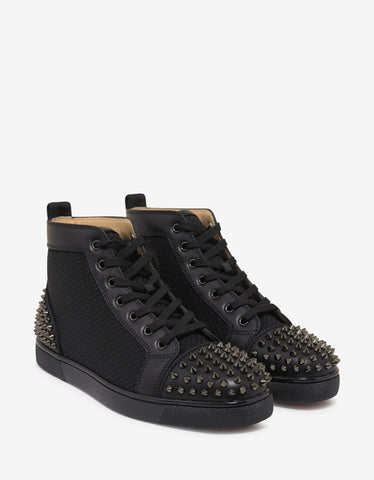 Christian Louboutin AC Lou Spikes 2 Flat Spikes High Top Trainers