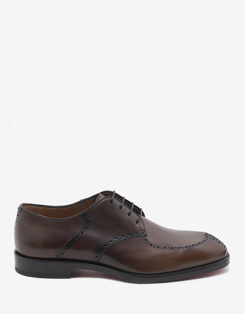 A Mon Homme Flat Havane Brown Derby Shoes