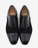 Alpha Male Flat Suede & Croc Embossed Loafers