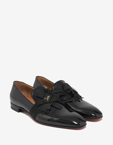 Christian Louboutin Ascot Boy Flat Black Patent Leather Loafers