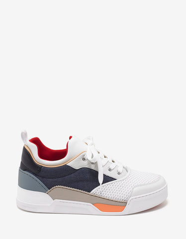 Aurelien Flat Multi-Fabric Trainers