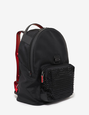 Christian Louboutin Backloubi Black Nylon Spikes Backpack