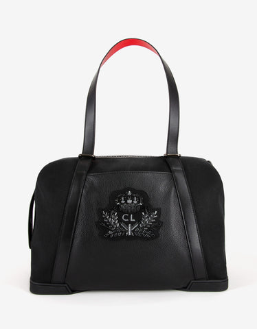 Christian Louboutin Bagdamon Black Canvas Holdall