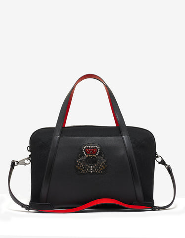 Christian Louboutin Bagdamon Duffle Black Canvas & Leather Holdall