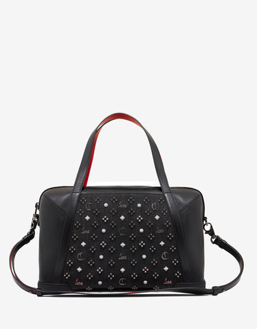 Christian Louboutin Bagdamon Duffle Black Leather & Denim Holdall