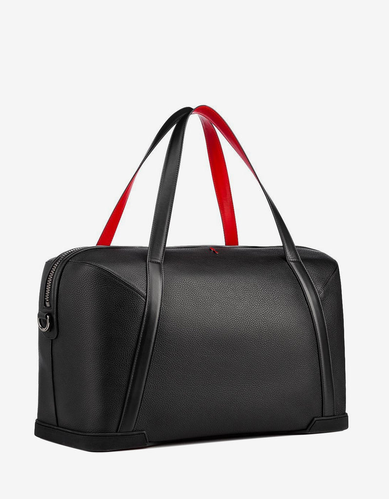 990b9473675 Bagdamon Duffle Black Leather & Denim Holdall