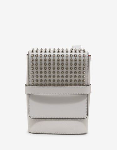Christian Louboutin Benech Reporter Snow White Spikes Bag