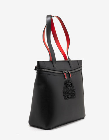 Christian Louboutin Cabado Black Holdall with Crest