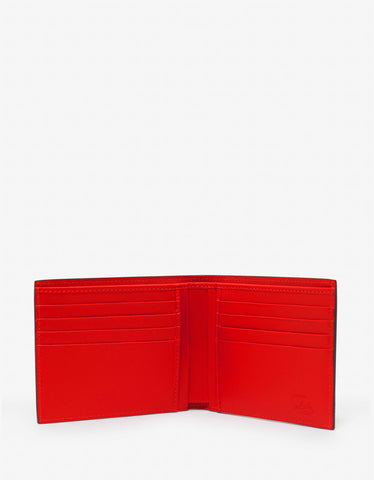 Christian Louboutin Coolcard Loubi Satin Leather Billfold Wallet