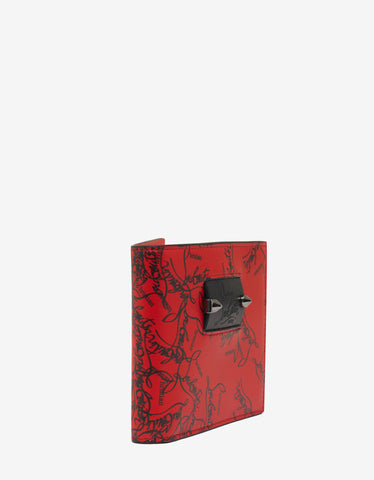 Christian Louboutin Coolcoin Red Degraloubi Print Billfold Wallet