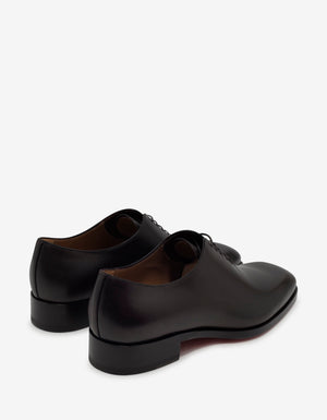 Corteo Brown Patina Leather Oxford Shoes -