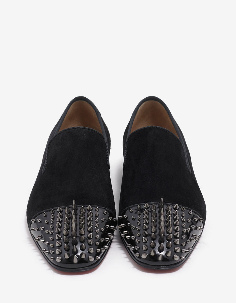 Dynodent Flat Suede Leather Spikes Loafers
