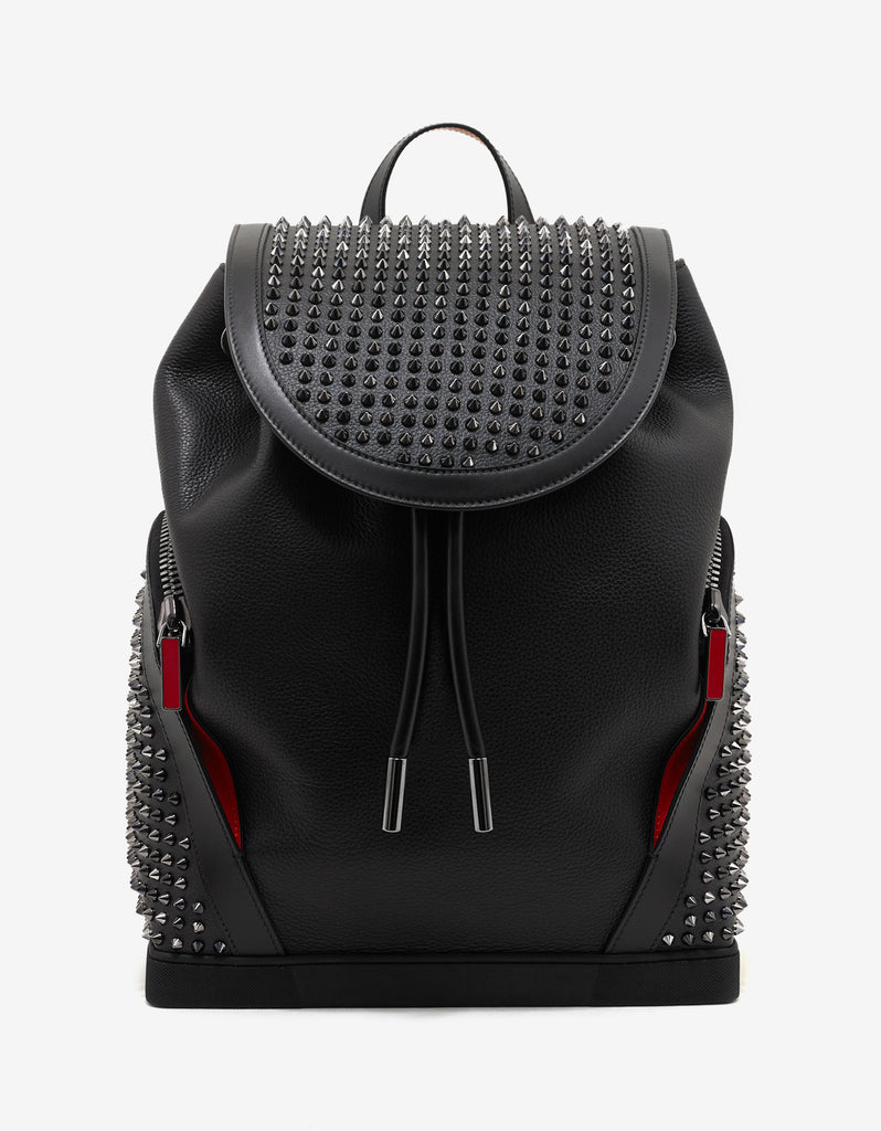 ab15a2100b1 Explorafunk Black Leather Spikes Backpack