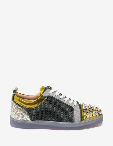 Christian Louboutin Louis Junior Spikes Luigi Flat Panelled Trainers