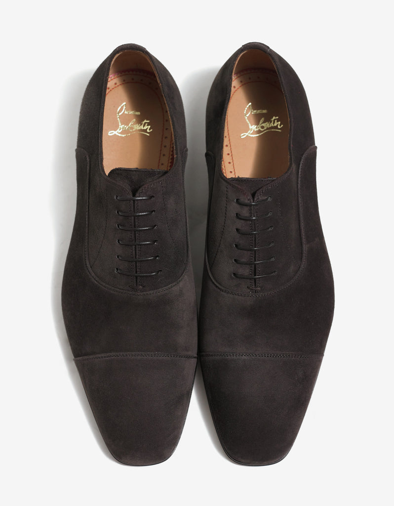 Greggo Brown Suede Leather Oxford Shoes