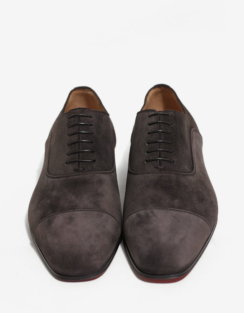 Greggo Brown Suede Leather Oxford Shoes -