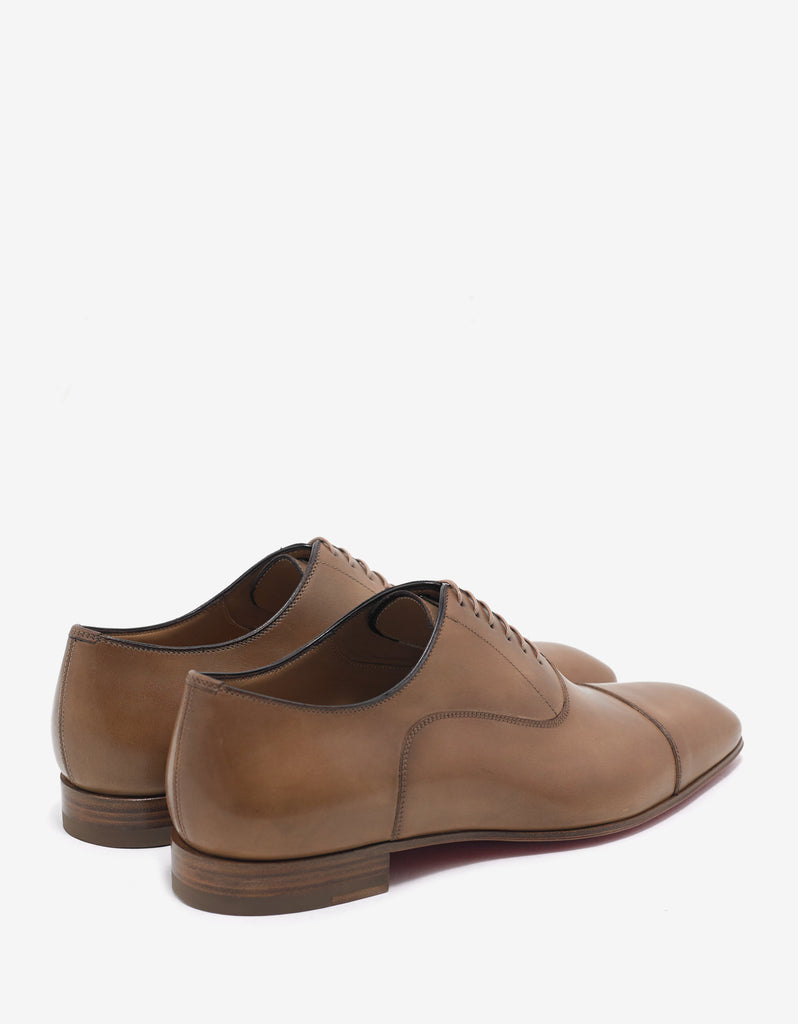 Greggo Flat Cappuccino Tan Leather Oxford Shoes