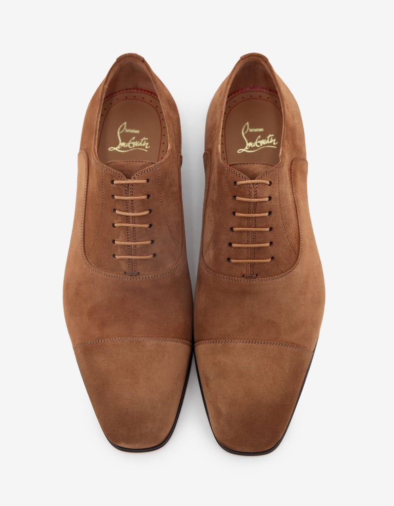 Greggo Flat Indiana Tan Suede Leather Oxford Shoes