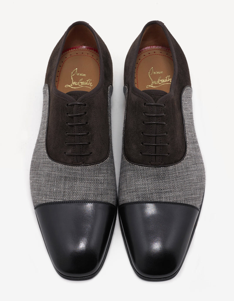 Greggo Orlato Flat Leather & Denim Oxford Shoes