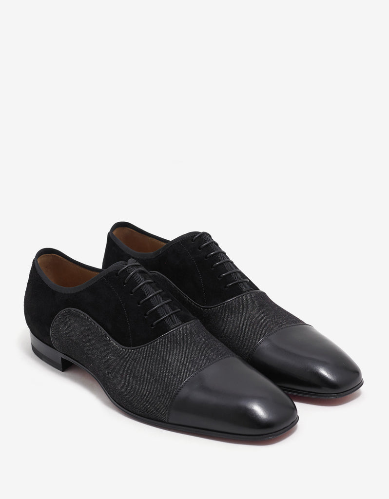 Greggo Orlato Flat Suede & Denim Oxford Shoes