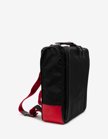 Christian Louboutin Hop'N Zip Black Nylon Backpack