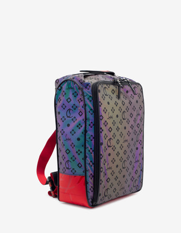 Christian Louboutin Hop'N Zip Nylon Reflex Loubinthesky Backpack
