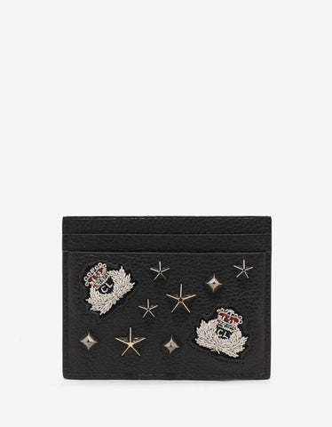 Christian Louboutin Kios Black Loubacademy Trashmix Studs Card Holder