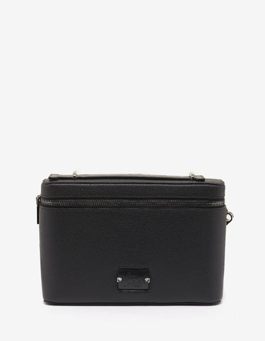Black Leather Rockstud Document Holder