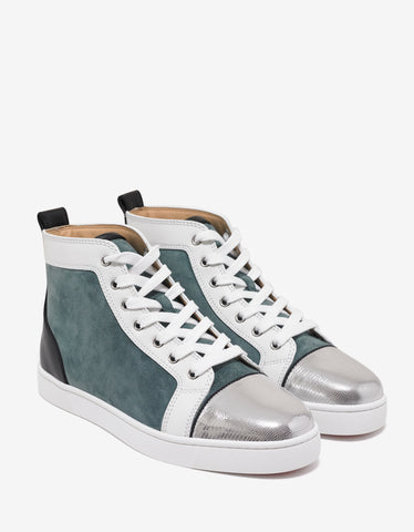 Christian Louboutin Louis Flat Everest Panelled High Top Trainers