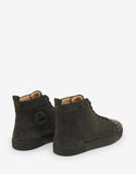 Lou Spikes Flat Tyrol Khaki Suede High Top Trainers