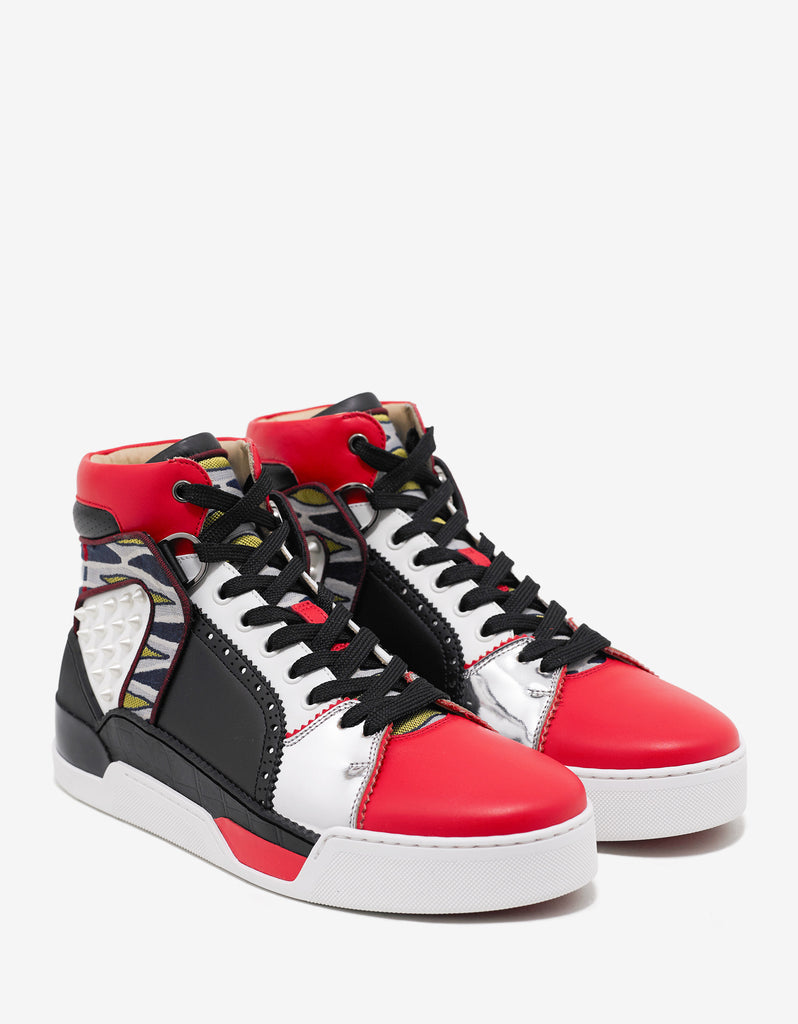 9e73a18fc86 Loubikick Flat Multi-Layered High Top Trainers