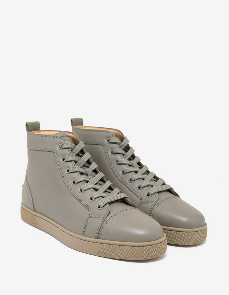 separation shoes 710a4 418c3 Louis Flat Argile Leather High Top Trainers