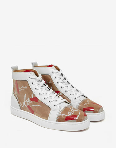 Christian Louboutin Louis Flat Loubi Kraft High Top Trainers
