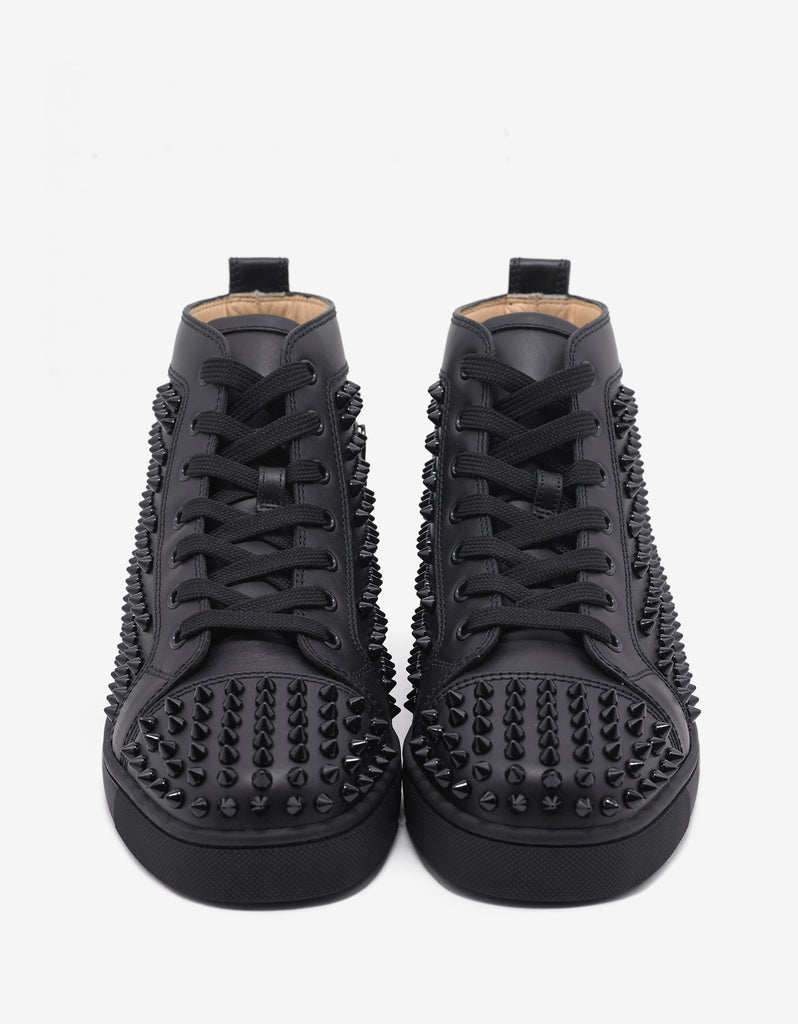 Louis Flat Spikes Black High Top Trainers