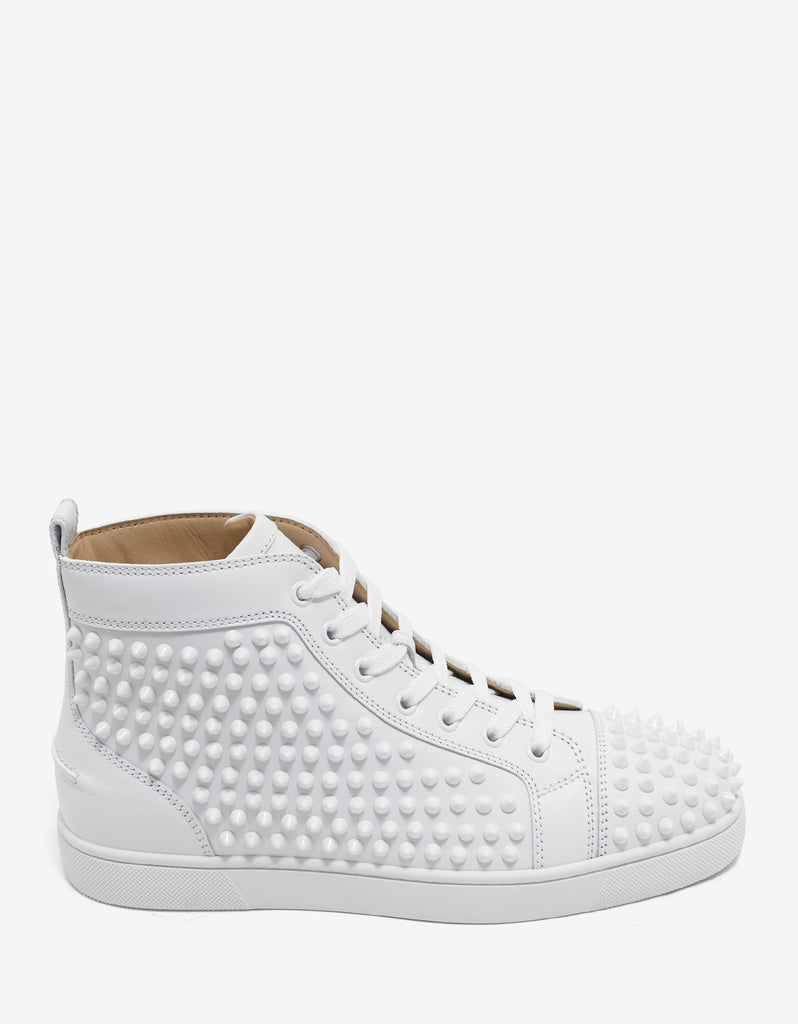 Louis Flat Spikes White High Top Trainers