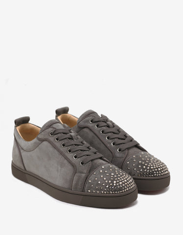 Christian Louboutin Louis Junior Degra Flat Trainers with Swarovski Toe Cap