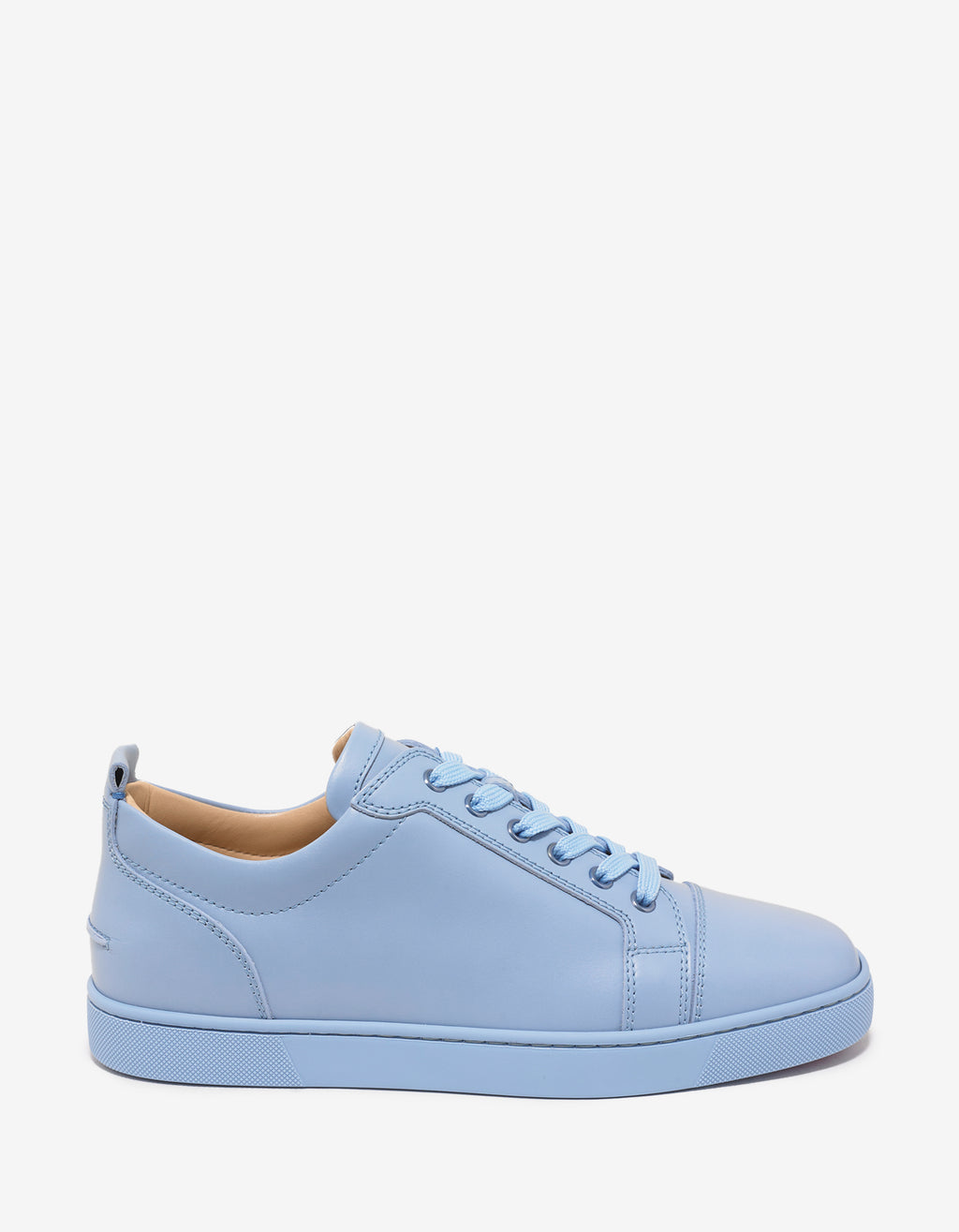 Louis Junior Flat Sky Blue Leather Trainers