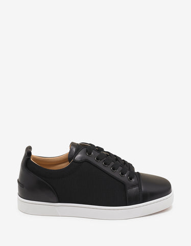 Christian Louboutin Louis Junior Orlato Flat Leather & Mesh Trainers