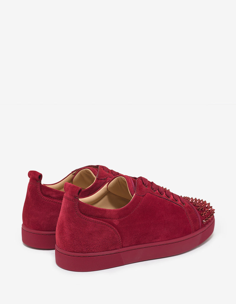 Louis Junior Spikes Flat Sanguine Red Suede Trainers