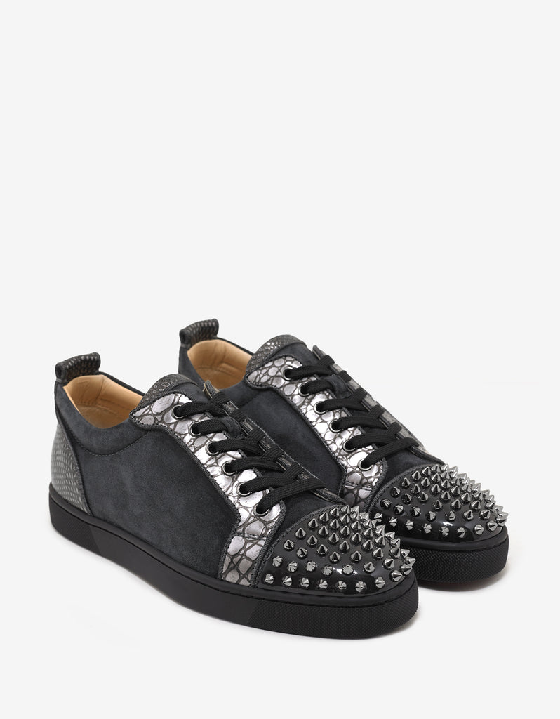 Louis Junior Spikes Orlato Flat Charbon Suede Trainers