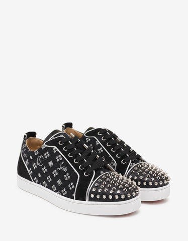 Christian Louboutin Louis Junior Spikes Orlato Flat Loubi In The Sky Trainers