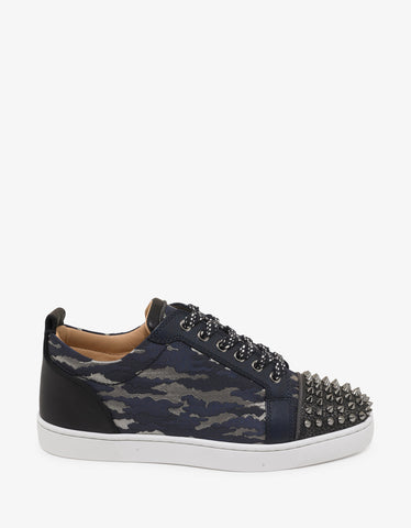 Christian Louboutin Louis Junior Spikes Orlato Jacquard Camouloubi Trainers