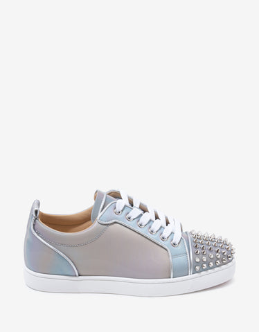 Christian Louboutin Louis Junior Spikes Orlato Nirvana Iridescent Trainers