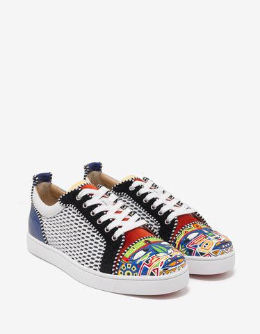 Louis Junior Tony Flat Multi-Panelled Trainers