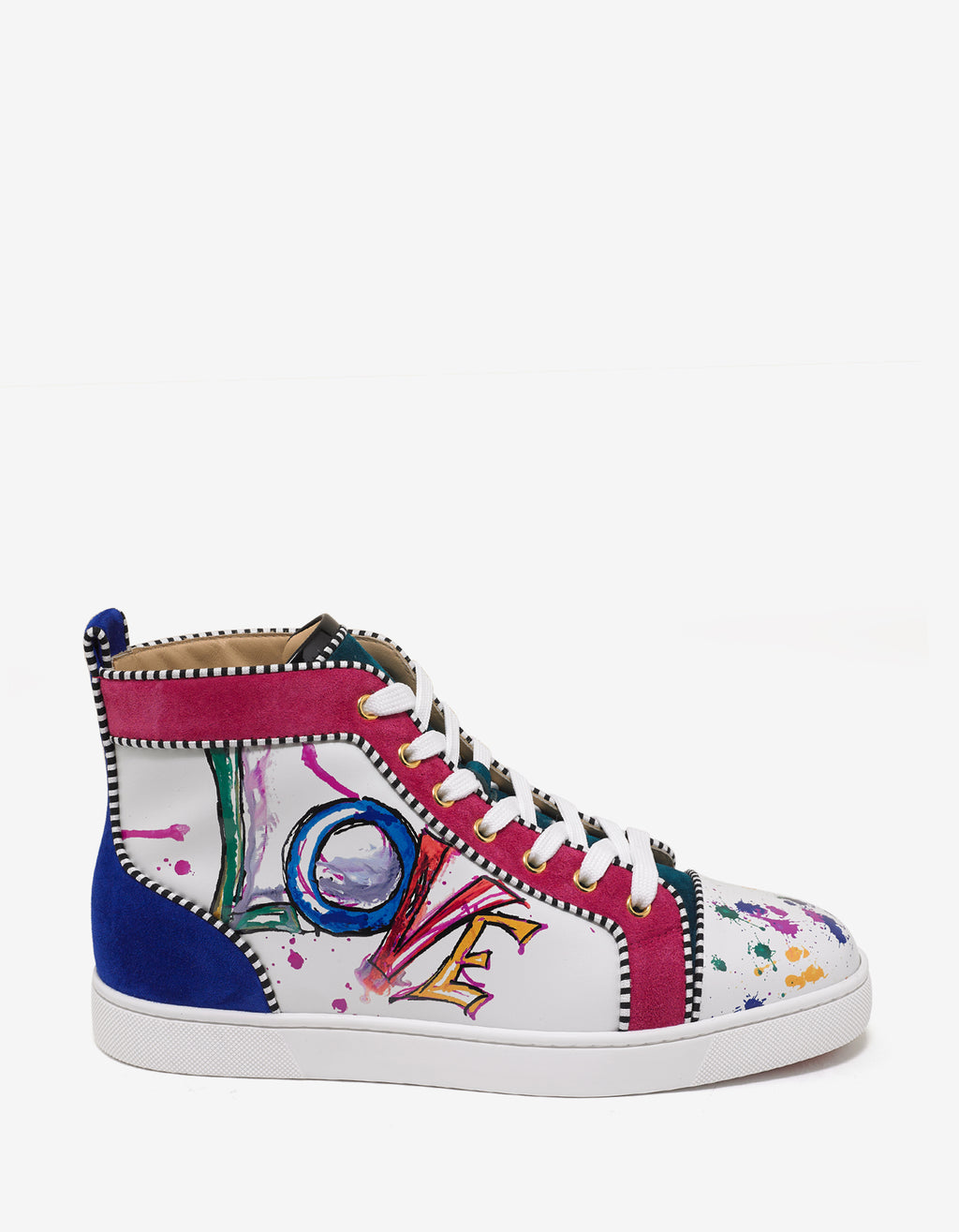 Louis Orlato Flat Love Print High Top Trainers