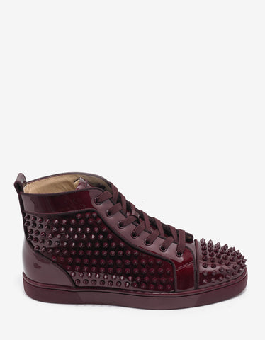 Christian Louboutin Louis Orlato Flat Orthodoxe Patent High Top Trainers