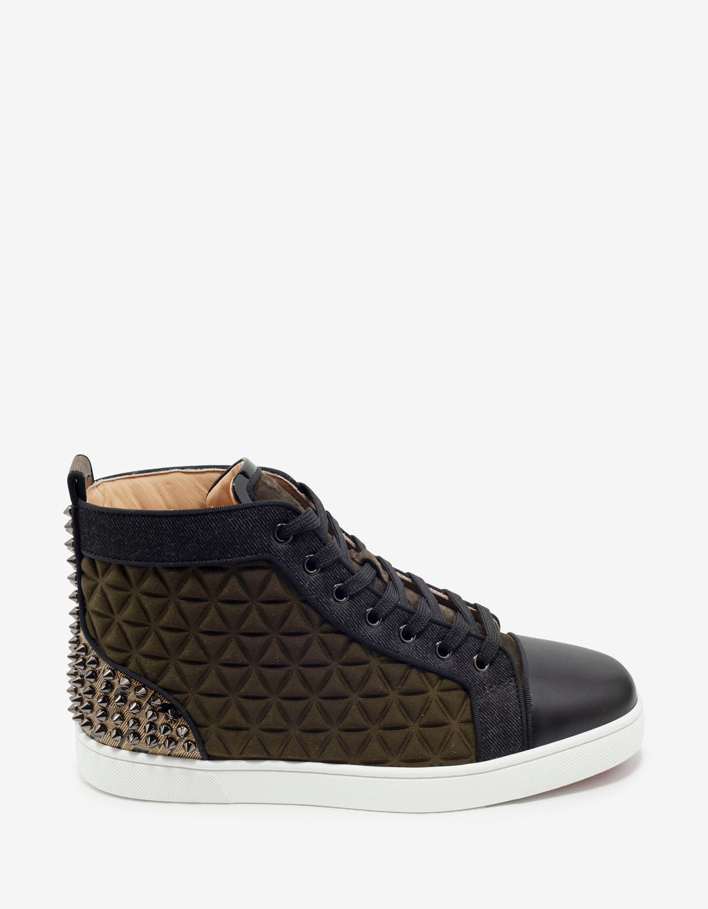 Louis Spikes III Waffle Neoprene High Top Trainers