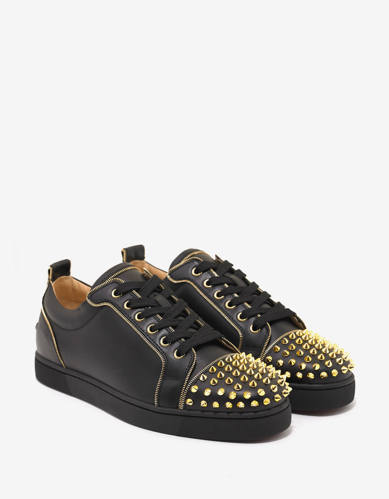 72516fbad4c7 promo code christian louboutin. junior zip spikes flat cd5d7 d756c
