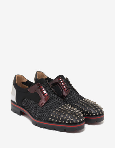 Christian Louboutin Luis Flat Multi-Fabric Derby Shoes